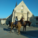 Patrouille de gendarmes à cheval