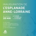 Inauguration de l'esplanade Anne-Lorraine