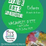 Stages arts plastiques vacances d'été