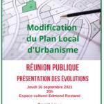 Modification du PLU : réunion publique